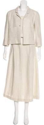 Chanel Metallic Three-Piece Skirt Suit