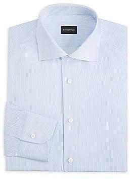 Ermenegildo Zegna Men's Striped Cotton Dress Shirt