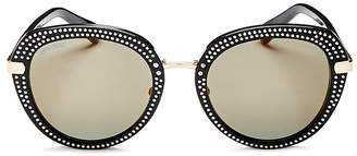 Jimmy Choo Mori Round Sunglasses, 52mm