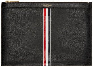 Thom Browne Black Small Tablet Holder