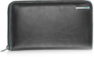 Piquadro Blue Square - Zip Around Leather Wallet