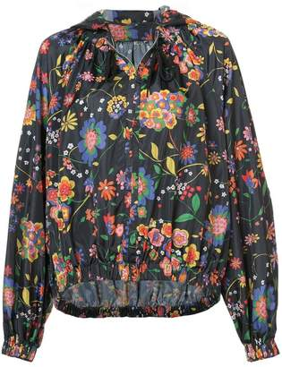 Tibi floral print oversized jacket