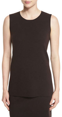 Eileen Fisher Washable Crepe Long Tank, Petite $178 thestylecure.com
