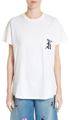 Women's Christopher Kane Patch Pocket Tee $245 thestylecure.com