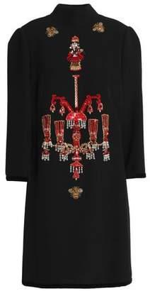 Dolce & Gabbana Embellished Woven Turtleneck Dress