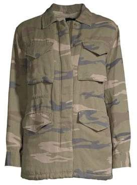 Rails Whitaker Faux-Shearling Lined Camo Jacket