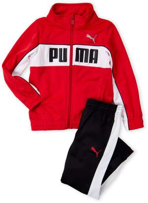 Puma Boys 4-7) Two-Piece Red Logo Track Jacket & Pants Set