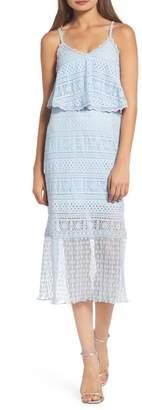 Foxiedox Ellie Lace Popover Midi Dress