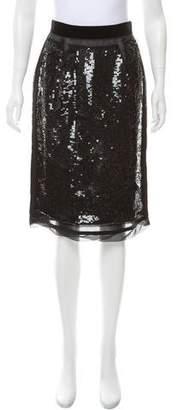 Dolce & Gabbana Sequined Silk Skirt