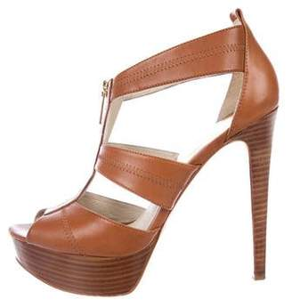 MICHAEL Michael Kors Leather High-Heel Sandals