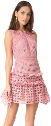 Self Portrait Crosshatch Frill Mini Dress $475 thestylecure.com