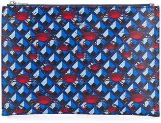 Furla crab print pouch