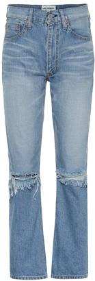 Junya Watanabe High-rise distressed jeans