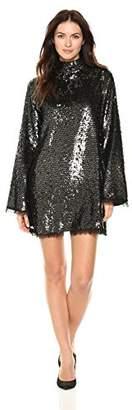 KENDALL + KYLIE Women's Sequin Mock Neck Dress