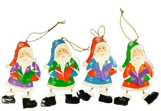Asstd National Brand Club Pack of 192 Santa Claus Caroler Christmas Ornaments 5.5