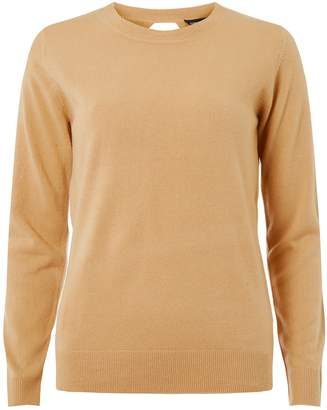 Dorothy Perkins Womens Camel Soft Wrap Back Jumper
