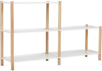 Zanui & HOME Tove 2-Step Shelving Unit, White