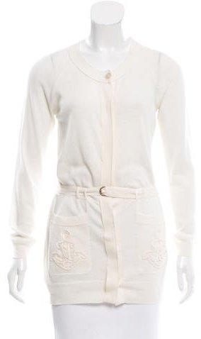 3.1 Phillip Lim3.1 Phillip Lim Anchor-Embroidered Wool-Blend Cardigan