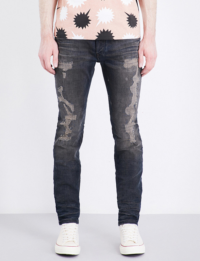 Diesel Diesel Sleenker 084DL distressed slim-fit skinny jeans