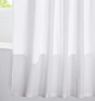Rejuvenation White Linen Shower Curtain