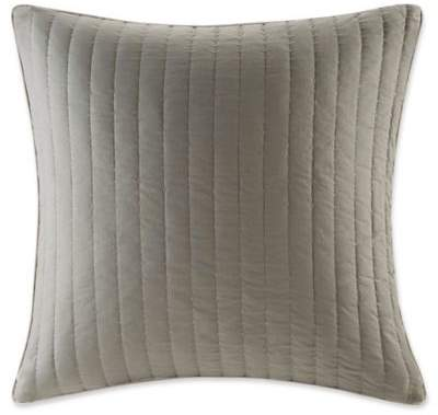 INK+IVY Ayana Quilted European Pillow Sham in Taupe
