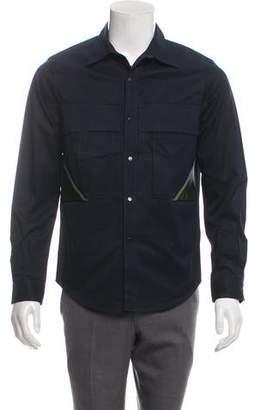Tim Coppens Leather-Trimmed Shirt Jacket