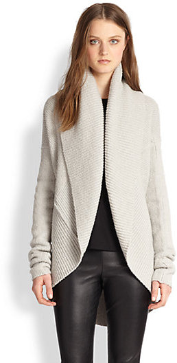 Vince Ribbed Circle Cardigan