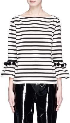 Marc Jacobs Pompom bell sleeve Breton stripe T-shirt