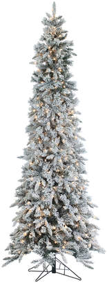 Sterling Tree Company 9Ft Flocked Narrow Pencil Pine