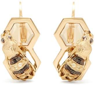 Delfina Delettrez Diamond, sapphire & yellow-gold earrings