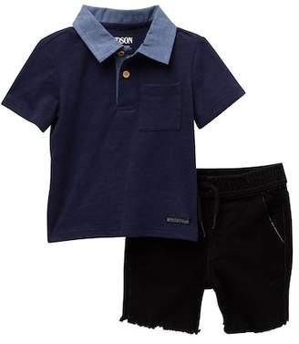 Hudson Cotton Slub Jersey Top & Shorts (Baby Boys)