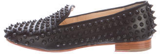 Christian Louboutin  Christian Louboutin Leather Rolling Spike Loafers