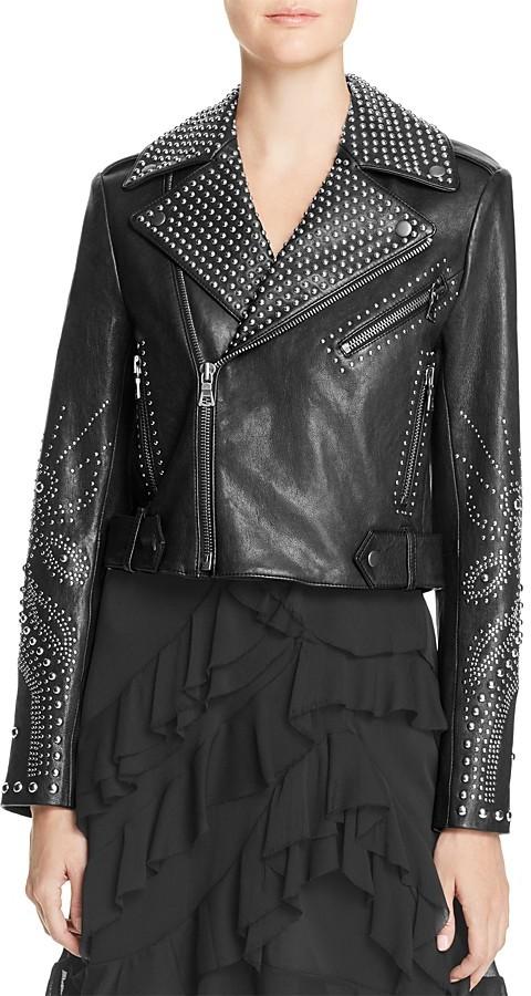 Alice + OliviaAlice + Olivia Cody Studded Leather Jacket