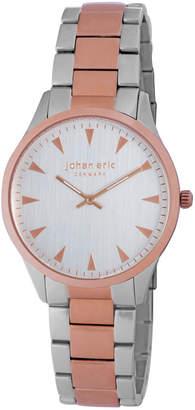 Johan Eric Men's Helsingør Quartz Silver Two-Tone Stainless Steel Bracelet Watch