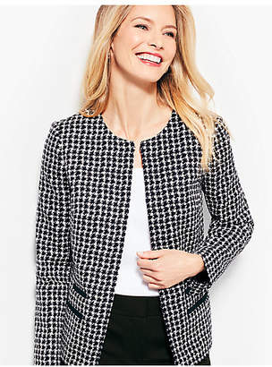 Talbots Textured Houndstooth Jacket