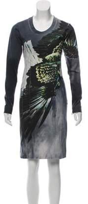 Maison Margiela Abstract Print Sweater Dress Grey Abstract Print Sweater Dress