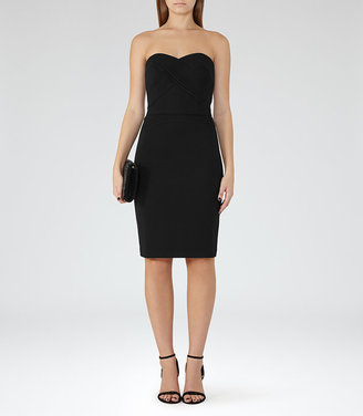Sabbia Strapless Plisse-Detail Dress $370 thestylecure.com