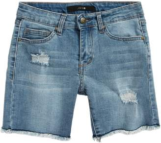 Joe's Jeans Frayed Mid Rise Bermuda Denim Shorts