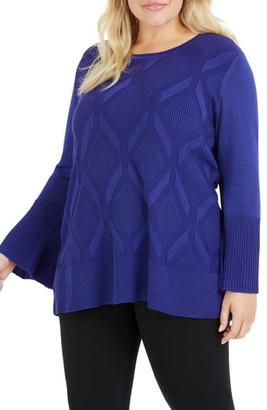 Foxcroft Dion Diamond Pattern Sweater