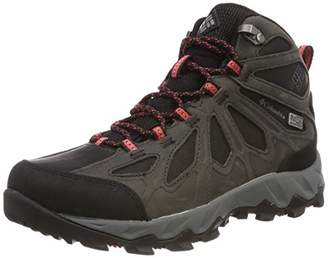 Columbia Women's Lincoln PassTM Mid LTR OutdryTM Hiking Shoes, (Black red camelhia), Pass Outdry 39.5 EU