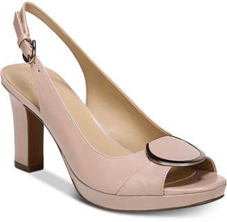 Naturalizer Ferris Peep-Toe Pumps Women's Shoes