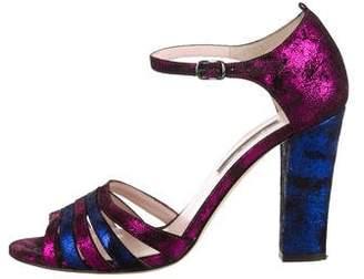 Sarah Jessica Parker Multistrap Suede Sandals