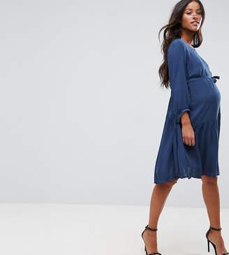 Mama Licious Mama.licious Mamalicious Boho Peplum Dress