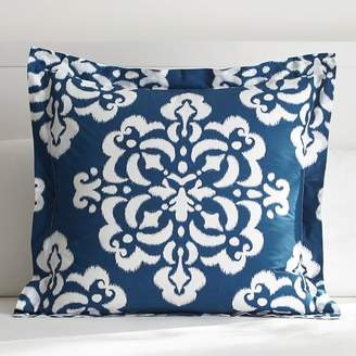 Pottery Barn Teen Ikat Medallion Duvet Euro Sham, Royal Navy