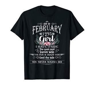 Womens As A February 1995 Girl I Have 3 Sides T-shirt