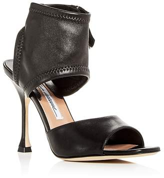 Brian Atwood Women's Stella Stretch Leather High-Heel Sandals