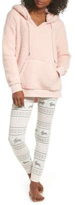 COZY ZOE Hooded Fleece Tunic & Leggings Set