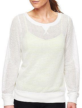 JCPenney XersionTM Open Mesh Sweatshirt