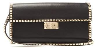 Valentino Rockstud Small Leather Bag - Womens - Black