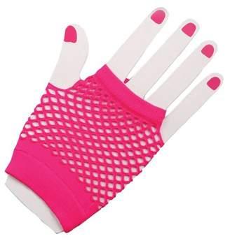 Decades Fuschia Fingerless Mesh Gloves